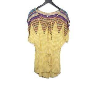 T.L.H. by Hype Bohemian Short Sleeve Top XS